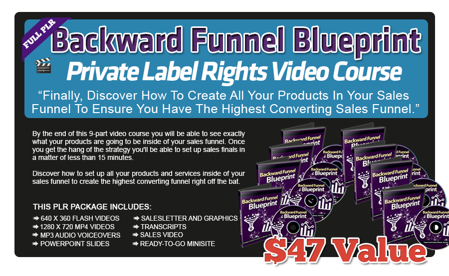 Backward Funnel Blueprint PLR Video Course