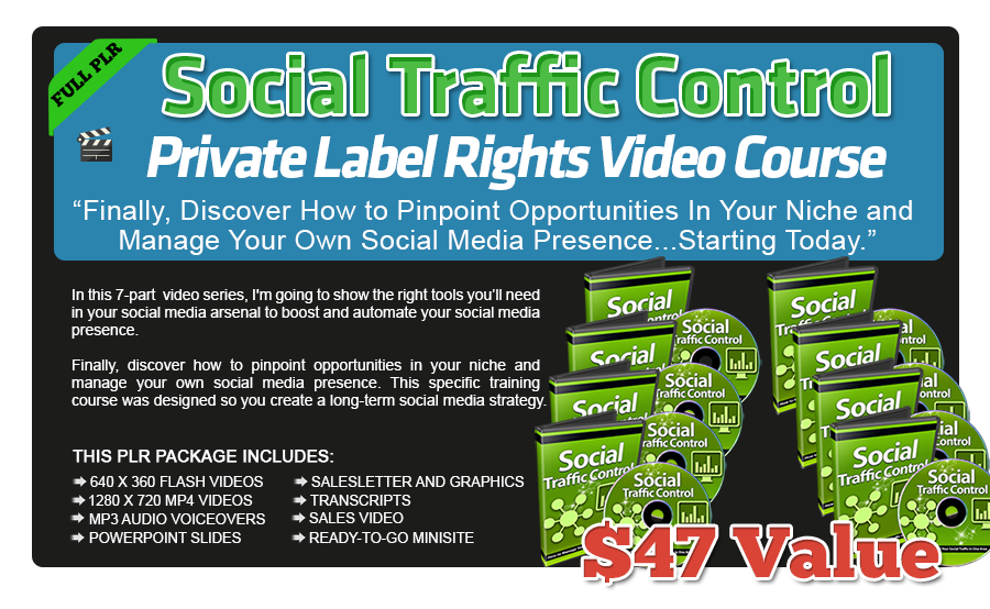 Social Traffic Control PLR Video Course