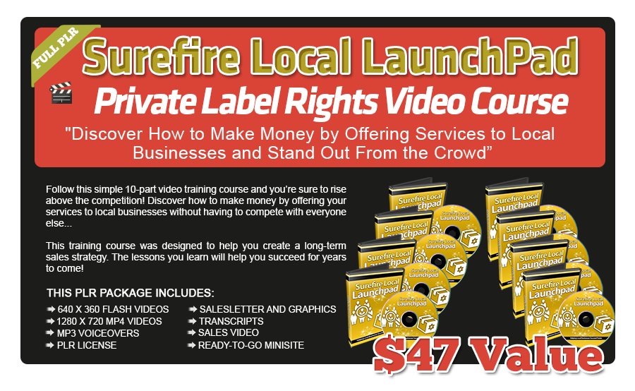 Surefire Local LaunchPad PLR Video Course